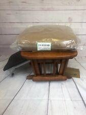 Dutailier Oak Glider Ottoman With Cushion - Brown
