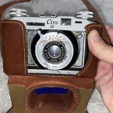 Vtg Ciro 35 Alphax Synchro Matic Wollensak 50mm F/4.5 Camera And Original Case