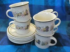 Royal Doulton - HARVEST GARLAND pattern - Cup and Saucers (6) - VGC