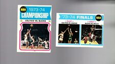 1974 Topps Basketball Set CHAMPIONSHIP AND FINALS 2 CARD LOT