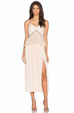 Self Portrait Lace Peplum Midi Dress Even for Wedding Size UK 10