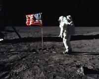 EARTHRISE OVER COMPTON MOON CRATER 11X14 PHOTO NASA 2015