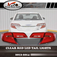Clear Red LED Tail Lights For Toyota Camry MY12-MY15 Sedan 2012 2013 2014 Pair
