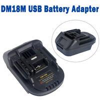 USB Battery Adapter For 20V DEWALT DCB200 Milwaukee DM18M Convert To Makita 18v