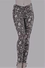 Sexy Leggings Medium Snake Print White Clubwear Pants Casual Biker