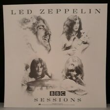 "Led Zeppelin Bbc Sessions Promotional Flat Double Sided 12"" × 12"" Page Plant"