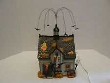 Dept 56 Halloween Creepy Creek Carriage House 55055 Flying Bats Lights Up