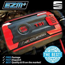 EZM Seat Leon MK3 Cupra TSI Engine Cover & Fuse Box Decal Sticker Set RED
