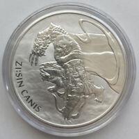 2018 South Korea Zi:Sin Canis 1 Oz .999 Silver 1 Clay - Brilliant Uncirculated!