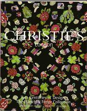 CHRISTIE'S Pattern Textile Design Bianchini Ferier Collection Raoul Dufy Catalog