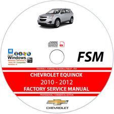 Chevrolet Equinox 2010 2011 2012 Service Repair Manual on CD