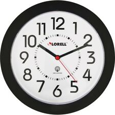 "Lorell 9"" Radio Controlled Profile Wall Clock - Analog - Quartz - Atomic"