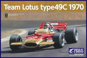 Ebbro 20006 - 1/24 Team Lotus Type 49C 1970 - New