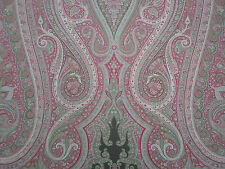 Schumacher Curtain Fabric 'Pasha Paisley 2.6 METRES 260cm Pomegranate 100% Wool