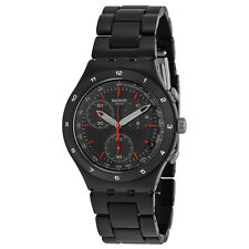 Swatch Black Coat Mens Watch   YCB4019AG