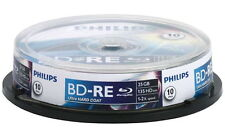 10 Philips Rohlinge Blu-ray BD-RE 25GB 2x Spindel