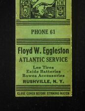 1930s Floyd W. Eggleston Atlantic Gas Lee Tires Fro-Joy Ice Cream Rushville NY