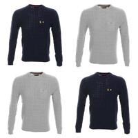 Luke 1977 Mens Birdseye Crew Neck Sweater Jumper Sweatshirt Top New Size XL