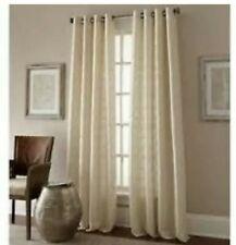 "Manhattan 84"" Grommet Top Window Curtain Panels Pearl Ivory Circles Set Of 2"