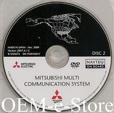 2006 to 2012 Mitsubishi Galant Endeavor Navigation DVD Disc #2 NM TX OK AR LA MS