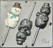 Snowman Lollipop Chocolate Candy Mold Christmas  2042 NEW