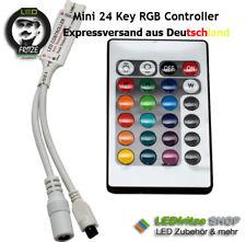 RGB (IR) Controller für 5V 12V 24V LED Streifen mit 24 Key Tasten Fernbedienung