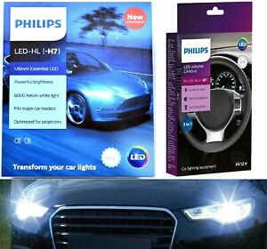 Philips LED Canceller White H7 Two Bulbs Head Light High Beam Replacement Lamp