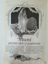 1920 mum deodorant prevents odors of perspiration wedding bride mirror ad