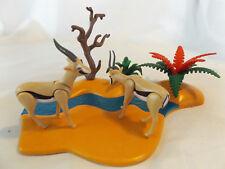 Playmobil 2 Safari Gazelle/Antelopes w/ River Landscape, for Zoo, Ark Animals