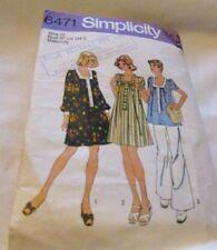 Vintage Original 70's  Ladies Maternity Simplicity Sewing Pattern Size 12 Cut