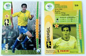 PANINI Trading Card KAKA Brasil No. 59 World Cup Germany 2006 No Prizm RARE!