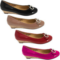 Women Bow Wedge Pumps, Casual Slip-On Ladies Shoes with By Tory Klein