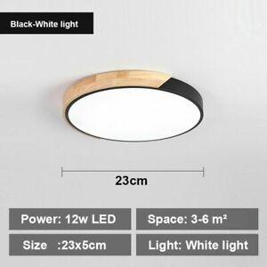 Led Ceiling Lamps Lights Room Wood Kitchen Lighting Fixture Bedroom Lustre 18w