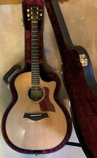 Taylor 714 ce accoustic electric guitar cutaway w/case slightly used excellent