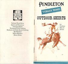 Pendleton Virgin Wool Outdoor Shirts for Men Vintage Ad Booklet Color Photos