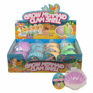 NEW MAGIC HATCHING GROW A MERMAID CLAM SHELLS ADD WATER GROWING EGG INFLATABLE