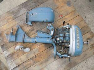 Vintage Evinrude Outboard Motor 1952 7.5HP Model 4447 Original - For Rebuild