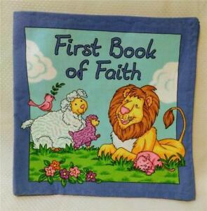 "Handmade Cloth Baby ""First Book of Faith"" Soft Flexible Washable Fabric*New!"