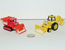 Bob the Builder Take n Play Along Snowy Holiday Scoop & Muck Construction Lot x2