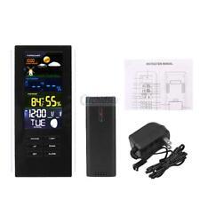 Wireless Weather Meter Station Clock Alarm Thermometer Humidity Indoor/Outdoor