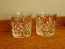 More details for lovely edinburgh crystal brodick old fashioned whisky glasses x 2 vgc