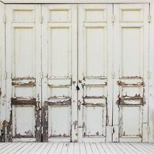 Vinyl 8x8ft Peeling Wood Door Photography Background Studio Photo Backdrop Props