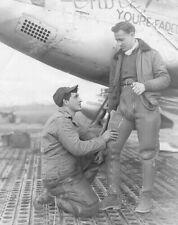 "1940s Man Proposes To Pilot, Vintage Old Photo 4"" x 6"" Reprint"