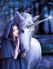 ANNE STOKES SOLACE UNICORN - 3D MOVING PICTURE POSTER 300mm X 420mm (NEW)