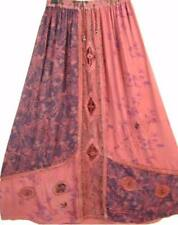 Sk161~Tienda Ho~RED/WINE~MAXI Skirt~HEAVILY EMBROIDERED~INDIAN ART~Rayon~OS 1X?