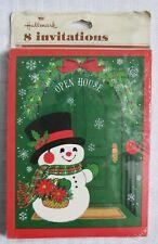 Vintage Hallmark Christmas Invitation Greeting Card Pack Snowman