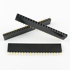 10Pcs 2.54mm Pitch 20 Pin Female Single Row Straight Header Strip PH: 8.5mm