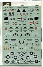 AEROMASTER 72-162 - DECALS 1/72 - LIGHTNING IN THE SKY Pt.I