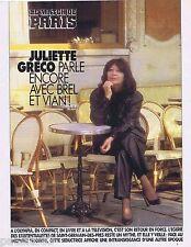 COUPURE DE PRESSE CLIPPING 1991 Juliette Gréco    (3 pages)