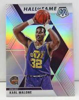Karl Malone 2019-20 SILVER MOSAIC PRIZM Hall of Fame Refractor Card #284 Jazz SP